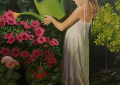 Dziewczynka z konewką Magdalena Frąckowicz-min