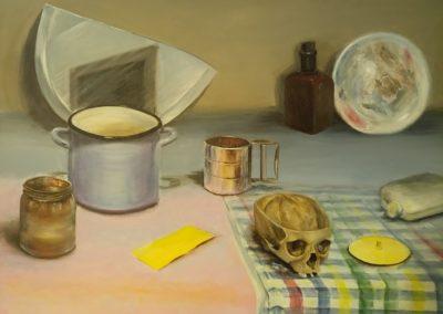 Martwa natura z czaszką Magdalena Frąckowicz-min